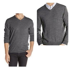 Calvin Klein 100% Fine Merino Wool V Neck Sweater
